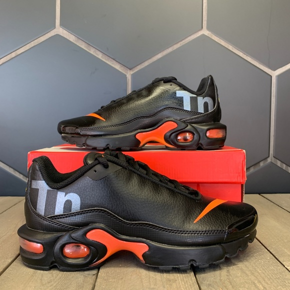 Nike Shoes Air Max Plus Tn Se Bg Black Orange Shoe Poshmark